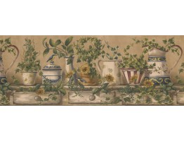 Prepasted Wallpaper Borders - Kitchen Wall Paper Border 10153 FFM