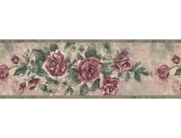 Prepasted Wallpaper Borders - Floral Wall Paper Border 10171 FFM