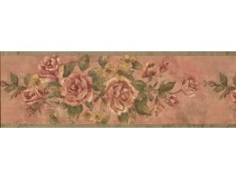 8 in x 15 ft Prepasted Wallpaper Borders - Floral Wall Paper Border 10173 FFM