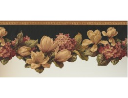 9 1/2 in x 15 ft Prepasted Wallpaper Borders - Floral Wall Paper Border 10301 FFM