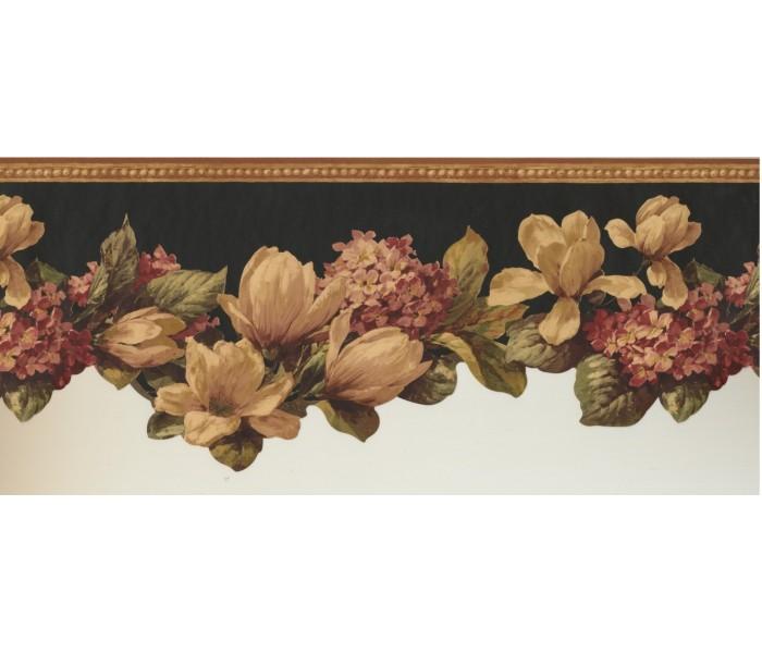 Floral Wallpaper Borders: Floral Wallpaper Border 10301 FFM