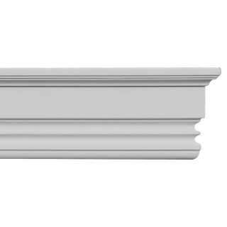 Flat Molding 4 inch Manufactured with Dense Architectural Polyurethane Compound. FM-5583 Flat Molding