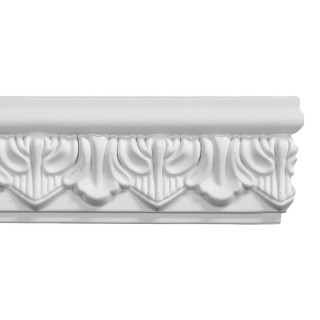 Flat Molding 3 inch Manufactured with Dense Architectural Polyurethane Compound. FM-5616 Flat Molding