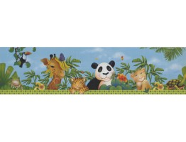 Prepasted Wallpaper Borders - Animals Wall Paper Border 10121 FS
