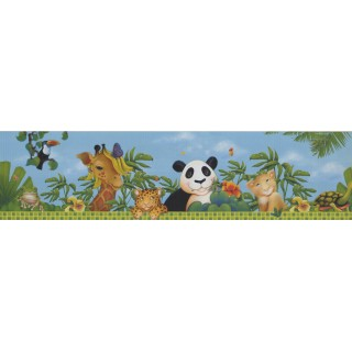 6 in x 15 ft Prepasted Wallpaper Borders - Animals Wall Paper Border 10121 FS