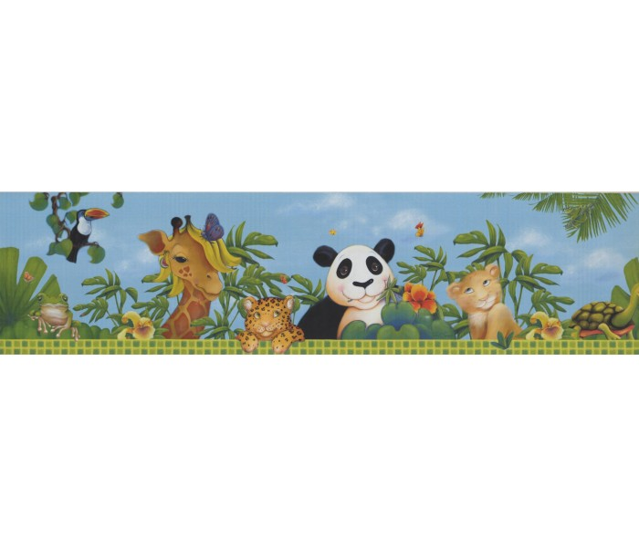 Jungle Wallpaper Borders: Animals Wallpaper Border 10121 FS
