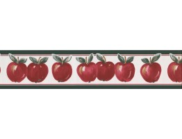Prepasted Wallpaper Borders - Apple Wall Paper Border 70186 GA