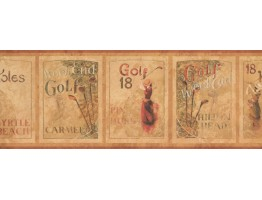 Prepasted Wallpaper Borders - Golf Wall Paper Border 7104 GF