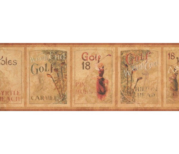 Golf Borders Golf Wallpaper Border 7104 GF