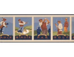 Prepasted Wallpaper Borders - Golf Wall Paper Border 7112 GF