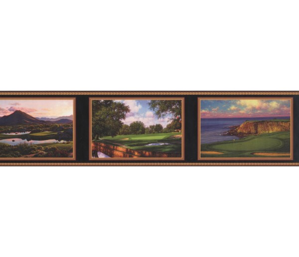 Prepasted Wallpaper Borders - Landscape Wall Paper Border 7116 GF