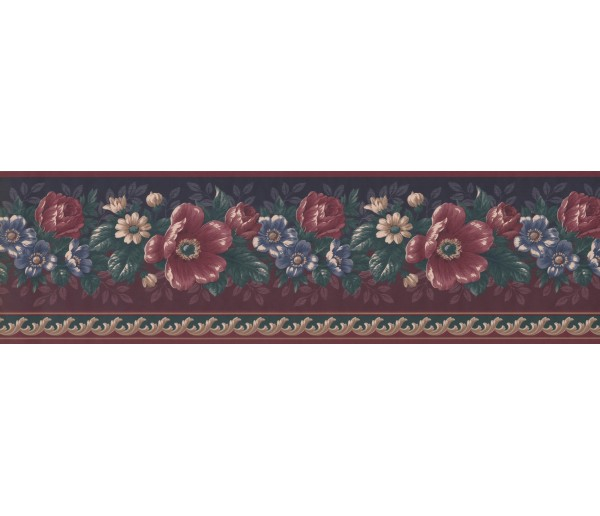 Floral Borders Floral Wallpaper Border GG101801 York Wallcoverings