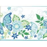 Birds Butterfly Wallpaper Border GIR94072 Shelbourne Wallcoverings