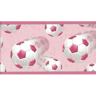 6 in x 15 ft Prepasted Wallpaper Borders - Football Wall Paper Border GIR94252B