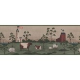 Prepasted Wallpaper Borders - Country Wall Paper Border 8514 HF