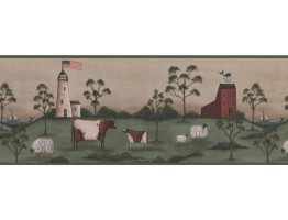 Country Wallpaper Border 8514 HF
