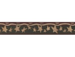 Prepasted Wallpaper Borders - Stars Wall Paper Border 8537 HF