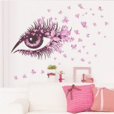 Wall Decals: Girl Eye Wall Decals HM0 066