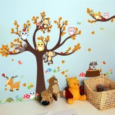 Wall Decals: Tree and Animals Wall Decals HM0084