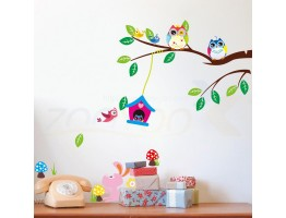 Tree and Birds Wall Decals HM01017