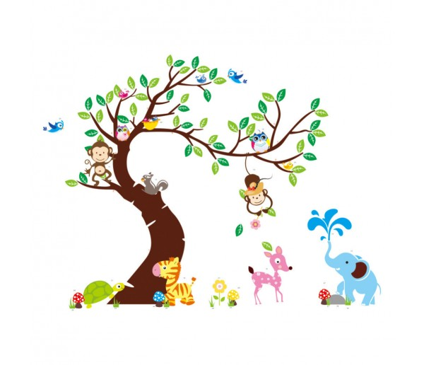 Tree and Animals Wall Decals HM01214
