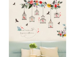 Birds Cage Wall Decals HM0122