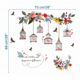 Wall Decals: Birds Cage Wall Decals HM0122
