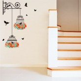 Wall Decals: Birds Cage Wall Decals HM0123