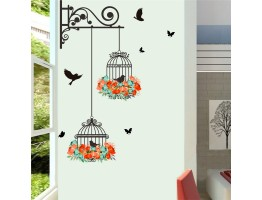Birds Cage Wall Decals HM0123
