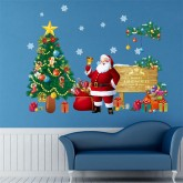 Wall Decals: Christmas Santa Wall Decals HM01309