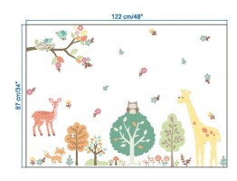 Jungle Animals Wall Decals HM0144