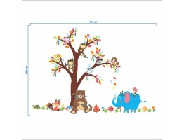 Tree and Animals Wall Decals HM0150