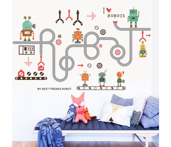 Wall Decals Kids Robots Wall Decals HM0152