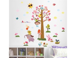 Tree and Animals Wall Decals HM0164