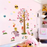 Wall Decals Tree and Animals Wall Decals HM0164