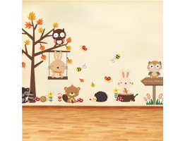 Tree and Animals Wall Decals HM0168