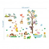 Wall Decals Tree and Animals Wall Decals HM0176
