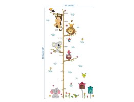 Cartoon Animals Wall Decals HM0178