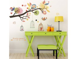 Tree Branch and Birds Wall Decals HM0819