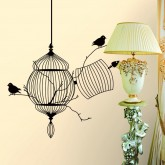 Wall Decals: Birds Cage Wall Decals HM08231