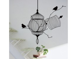 Birds Cage Wall Decals HM08231