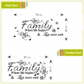 Wall Decals: Family Qoutes Wall Decals HM08237