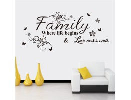Family Qoutes Wall Decals HM08237