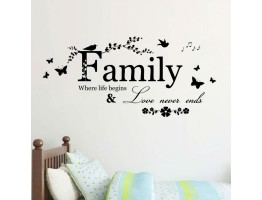 Family Qoutes Wall Decals HM08346
