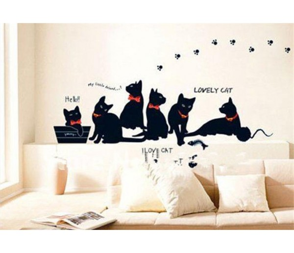 Wall Decals: Cat Wall Decals HM0X843