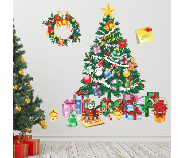 Christmas Tree Gift Wall Decals HM0xmas95