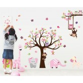 Wall Decals: Tree and Animals Wall Decals HM1 AL301AB