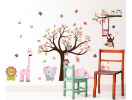 Tree and Animals Wall Decals HM1 AL301AB