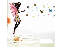 Angel and Butterfly Wall Decals HM10181