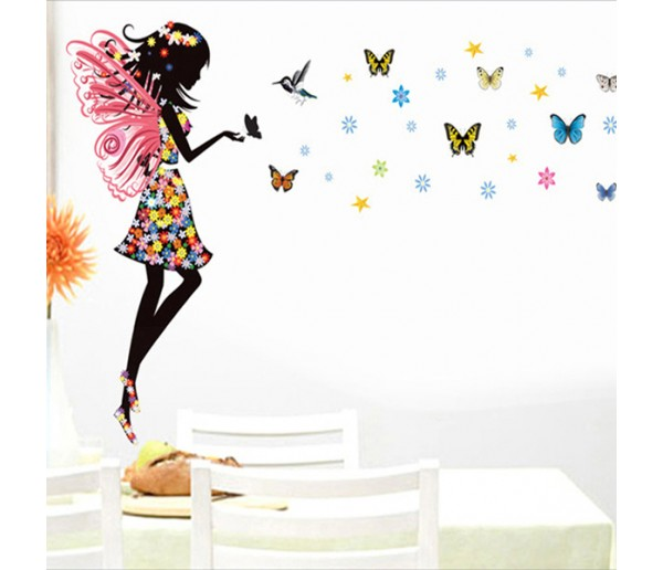 Wall Decals Angel and Butterfly Wall Decals HM10181